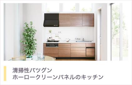 清掃性バツグンホーロークリーンパネルのキッチン