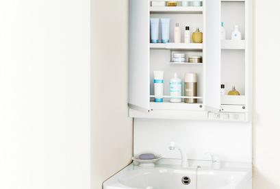 使い勝手・清掃性に優れたホーロースタイリッシュ洗面化粧台